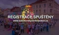 Na obrázku může být: one or more people a outdoor, text that says 'REGISTRACE SPUŠTENY www.sokolovskyctvrtmaraton.cz'